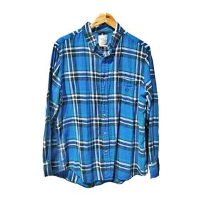 4/$25 Chaps electric blue flannel